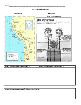 Age of Exploration & Inca, Maya, Aztec Assessments - crq, enduring issue, exam