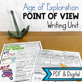 Age of Exploration Narrative Writing Unit: Point of View & Historical Fiction