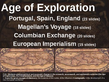 Age of Exploration! (PART 3: COLUMBIAN EXCHANGE) visual, textual, engaging