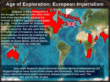 Age of Exploration! (PART 4: EUROPEAN IMPERIALISM) visual, textual, engaging