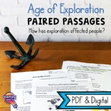 Age of Exploration Paired Passages Reading Comprehension & Informational Writing
