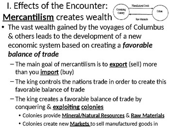 Age of Exploration Powerpoint: Major Effects of the Encounter