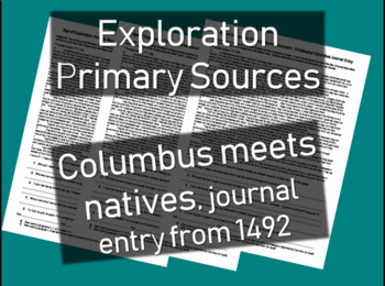Age of Exploration Primary Source - Columbus meets natives