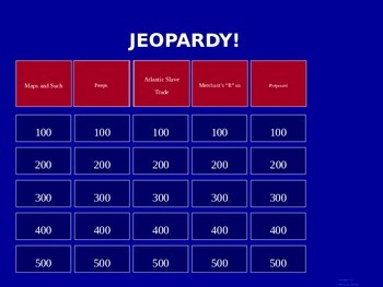 Age of Exploration Quiz/Test Jeopardy Review.   History 101