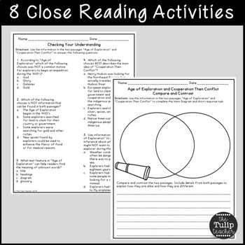 Age of Exploration Reading Comprehension Paired Passages