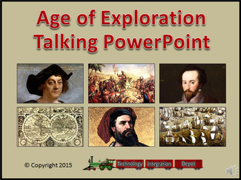 Age of Exploration Talking PowerPoint & Four Puzzle Pack