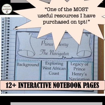 Age of Exploration Notes Activities Projects Teacher Resource Bundle SAVE 25%+