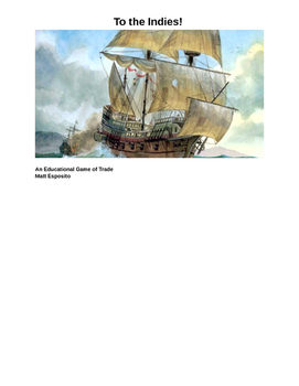 Age of Exploration Trade Game