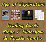 Age of Exploration Trading Cards, Bingo/Slideshow and Puzzle Combo