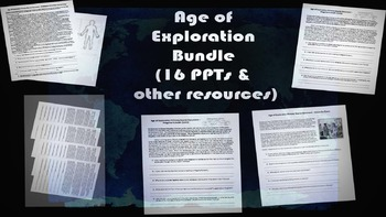 Age of Exploration Ultimate Bundle: 16 PPTs, primary sourc
