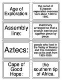 Age of Exploration Vocabulary Flashcards