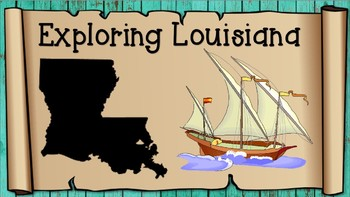 Exploring Louisiana Vocabulary PowerPoint Presentation with Matching Game