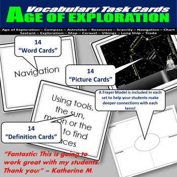 Age of Exploration Vocabulary Task Cards