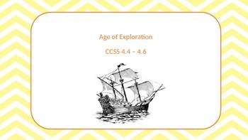 Age of Exploration Vocabulary for Tennessee CCSS 4.4-4.6