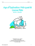 Age of Exploration Web Quest & License Plate