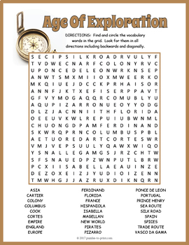 Age of Exploration Word Search