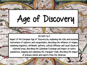 Age of Exploration - World History II Task Cards