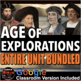 Age of Exploration Unit: PPT, Worksheets, Project, Plans, Test+Distance Learning