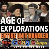 Age of Exploration Unit: PPT, Worksheets, Project, Plans,