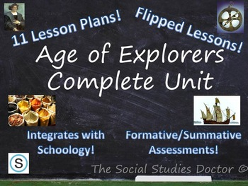 Age of Exploration Complete 11-Class Unit! (Optional Flipped Lessons!)