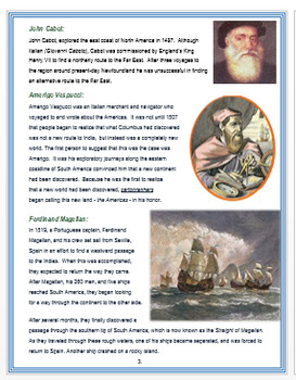 "Age of Exploration - ""Notable Explorers"" + Assessment"