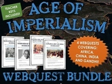 Age of Imperialism - Webquest Bundle (Africa, China, India and Gandhi)
