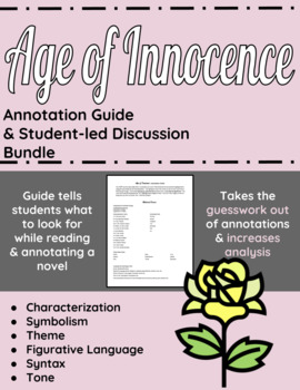 Age of Innocence Annotation Guide and Student-led Discussion Bundle