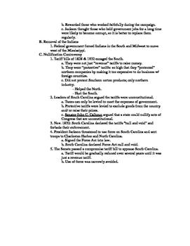 U.S. History Notes & Quiz: Age of Jackson