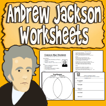 Age of Jackson Activities and Worksheets