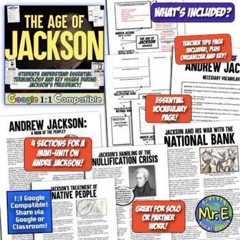 Andrew Jackson Unit Bundle! Trail of Tears, Bank War, Nullification, & More!