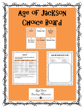 Age of Jackson Choice Board