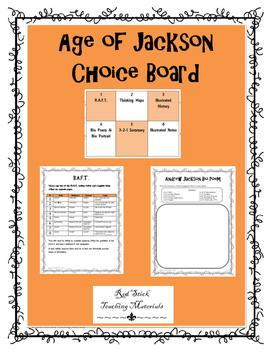 Age of Jackson Choice Board
