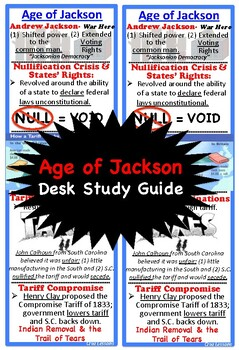 Age of Jackson, Desk Study Guide
