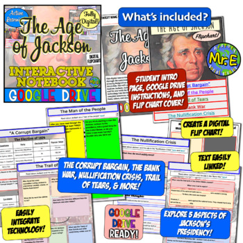 Age of Jackson DIGITAL Interactive Notebook! Andrew Jackson & Google Drive!