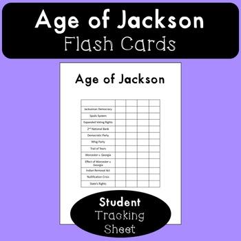 Age of Jackson Flash Cards