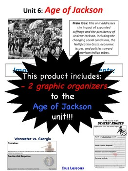 Age of Jackson, Graphic Organizers