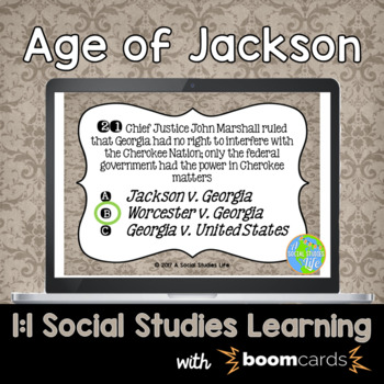 Age of Jackson Interactive Task Cards