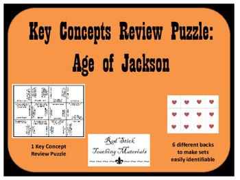 Age of Jackson Key Concepts Puzzle
