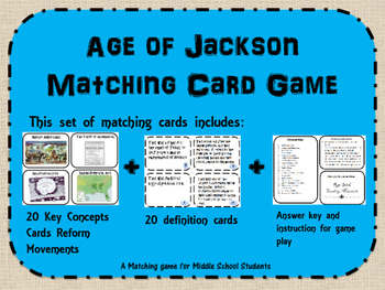 Age of Jackson Memory/ Matching Game