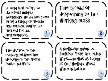 Age of Jackson Memory/ Matching Game