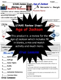 Age of Jackson, STAAR Review Sheet