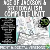 Age of Jackson & Sectionalism Curriculum; Distance Learnin