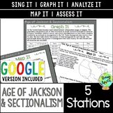 Age of Jackson & Sectionalism Station Activities; Distance