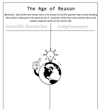 Age of Reason Break-Out Activity