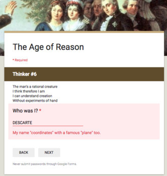 Age of Reason Digital Break Out DBQ Activity