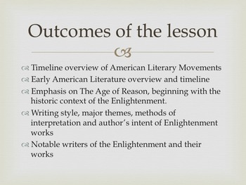 Age of Reason - Early American Literary Movement Series, part II