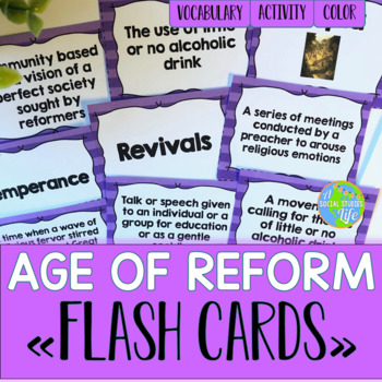 Reform, Suffrage, and Abolition Flash Cards