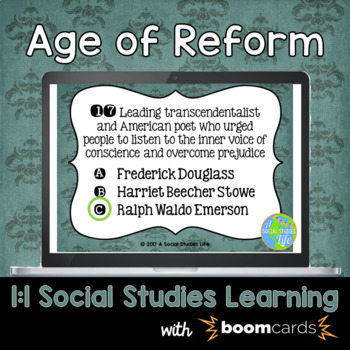 Age of Reform Interactive Task Cards