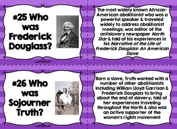Reform, Suffrage, Abolition Task Cards and Recording Sheet