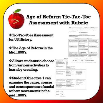 Age of Reform Tic-Tac-Toe Assessment